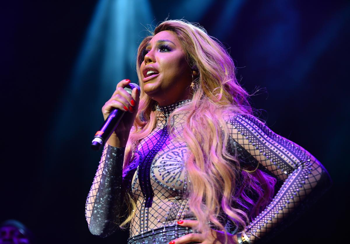 Tamar Braxton performs on stage during the 6th Annual Mother's Day Experience at James L Knight Center on May 12, 2019 in Miami, Florida