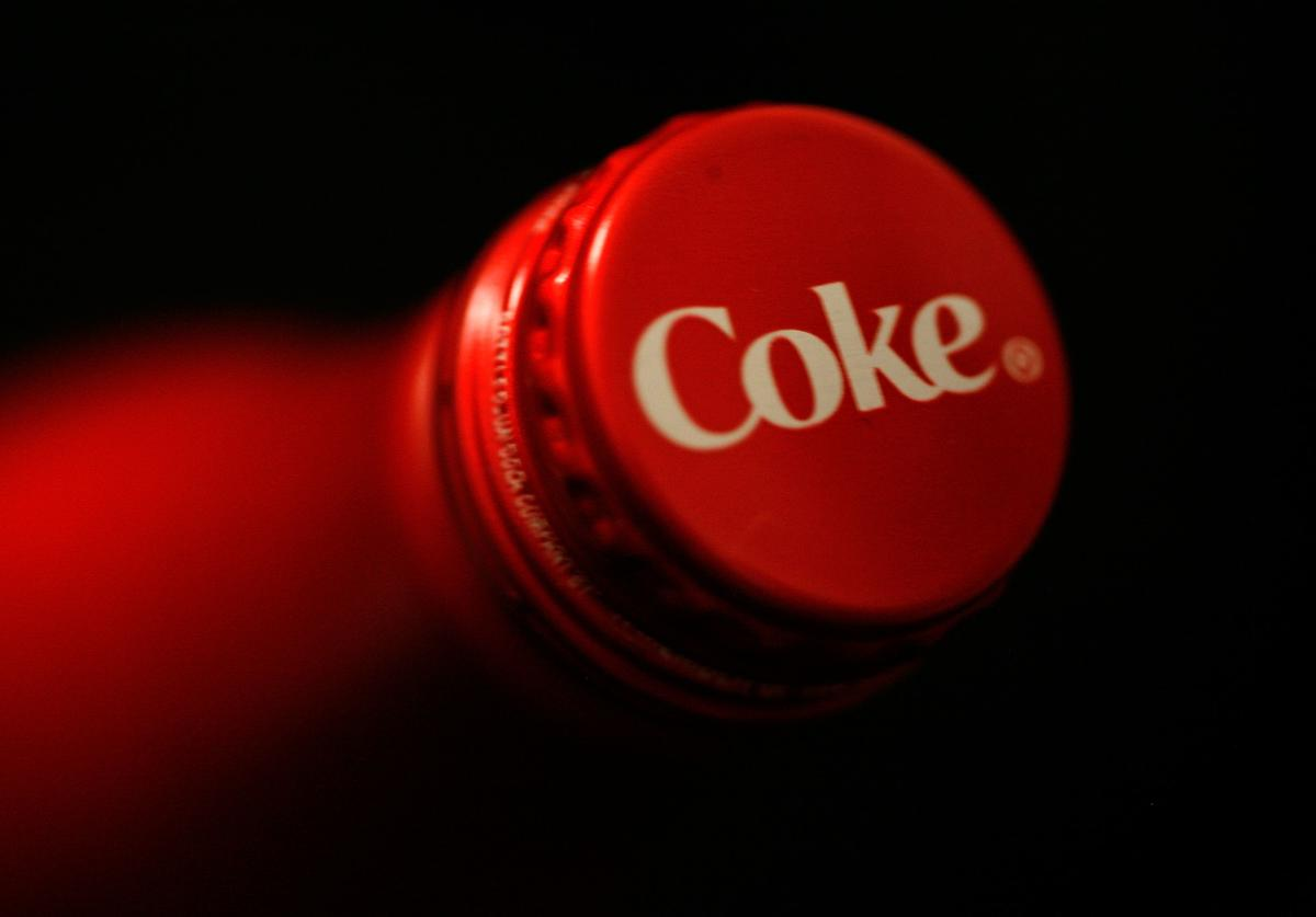 A general view of a new Coca-Cola aluminum bottle during Mercedes-Benz Fashion Week Fall 2009 at Bryant Park on February 16, 2009 in New York City.