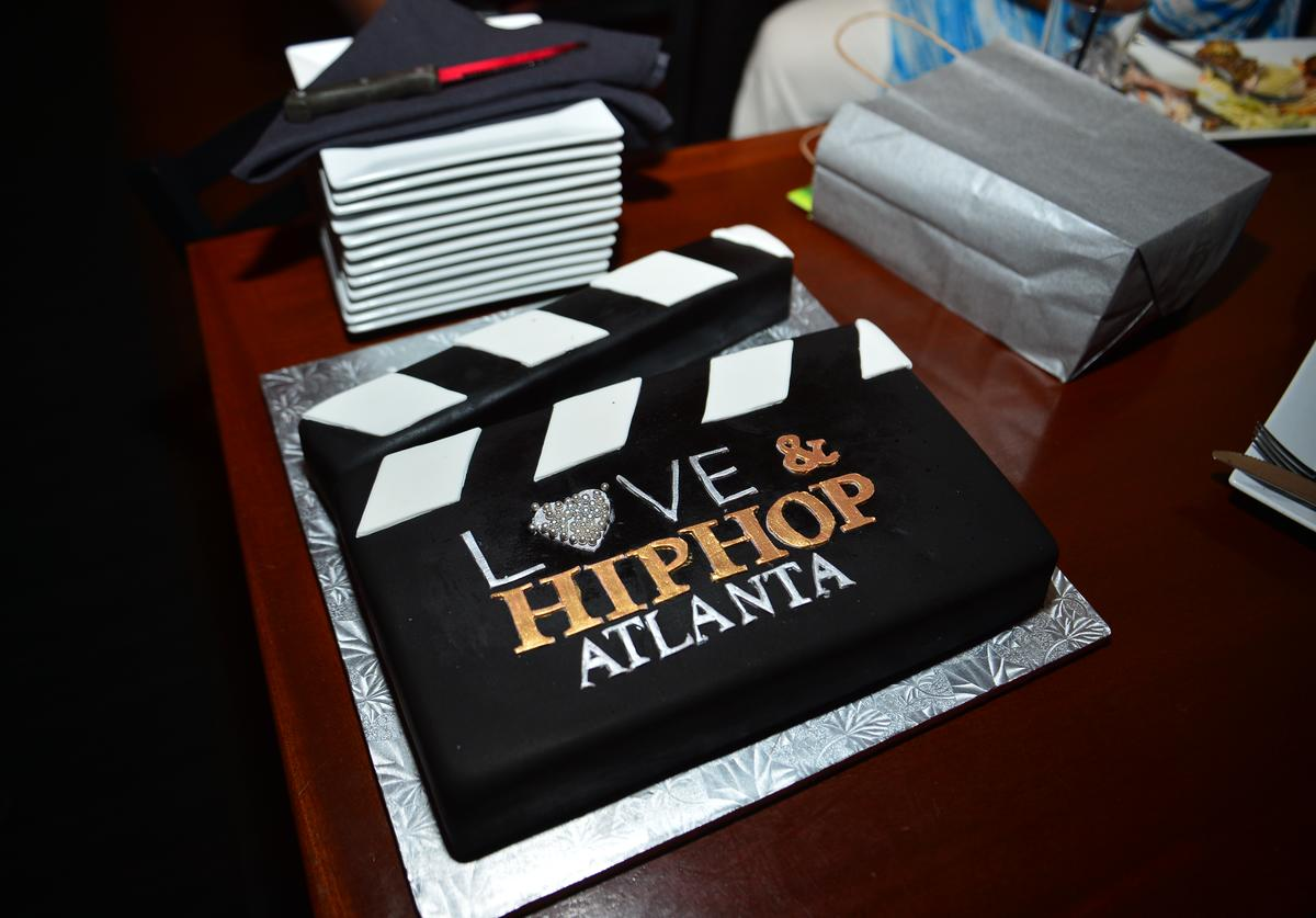"ake Presented to the cast) at the VH1 ""Love and Hip Hop Atlanta"" premiere party"