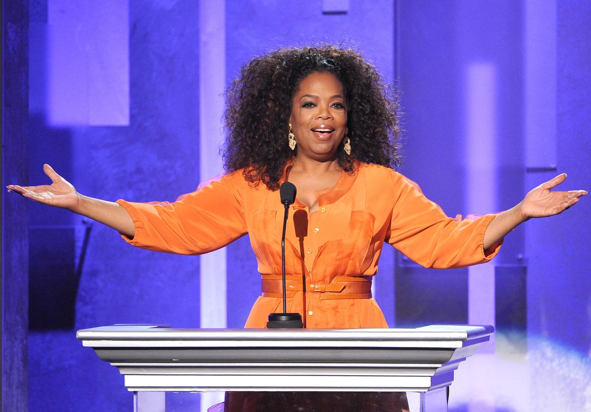 Oprah Winfrey speaks onstage during the 45th NAACP Image Awards presented by TV One at Pasadena Civic Auditorium on February 22, 2014 in Pasadena, California.
