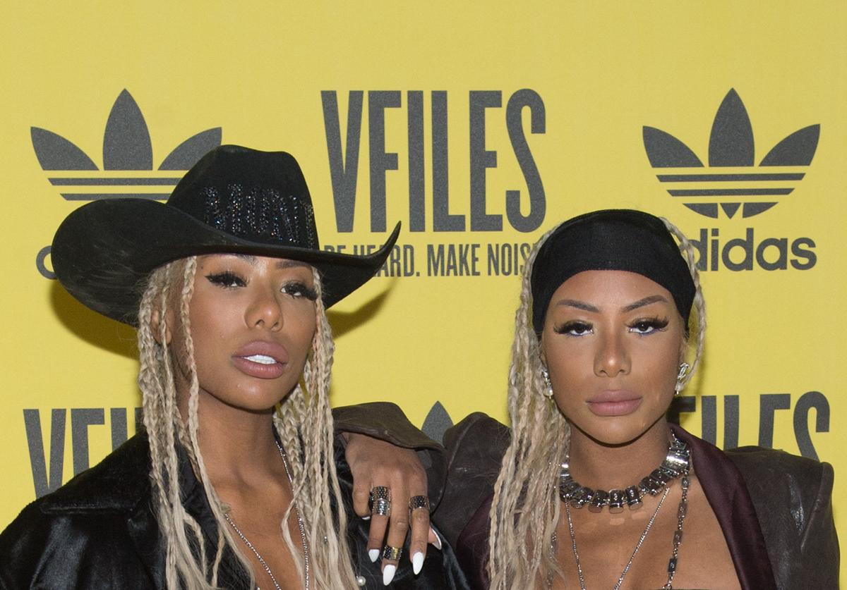Shannade Clermont and Shannon Clermont attend the VFILES fashion show