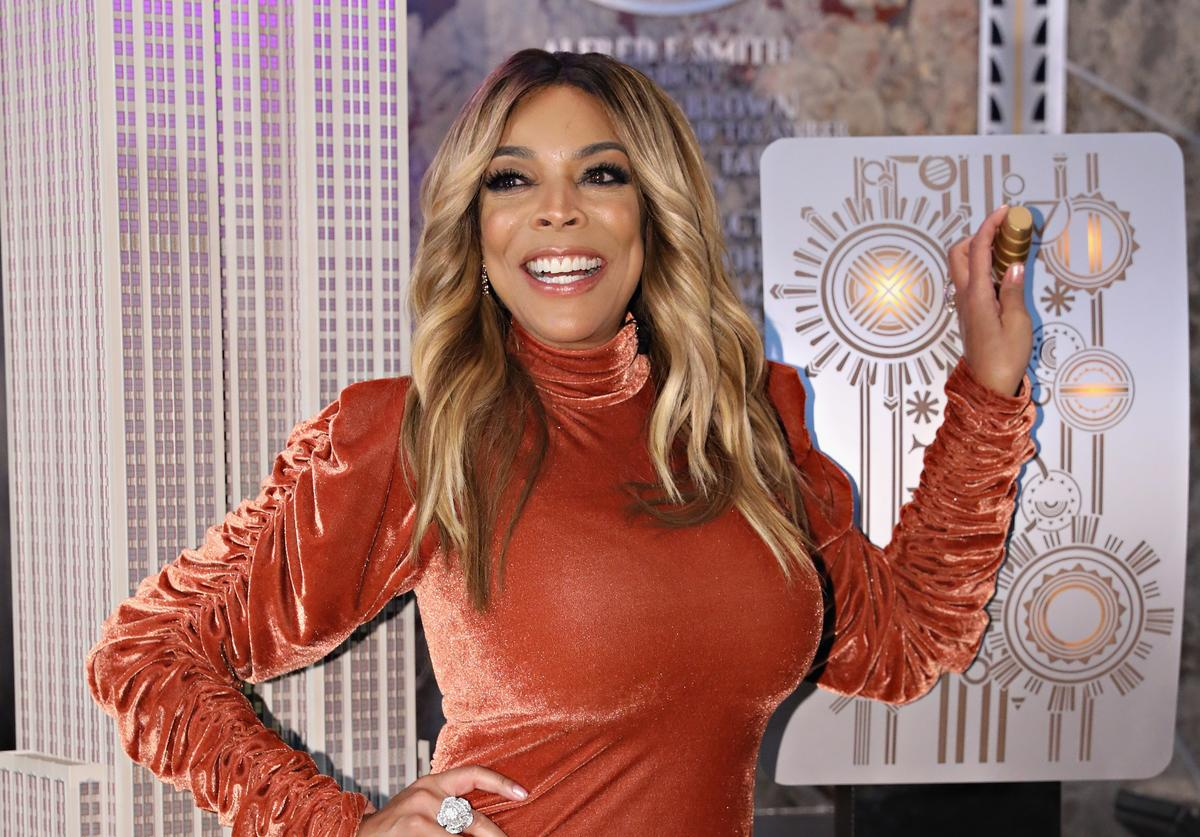 Wendy Williams takes part in the ceremonial lighting of the Empire State Building to celebrate the The Wendy Williams Show's ninth season at The Empire State Building on September 18, 2017 in New York City