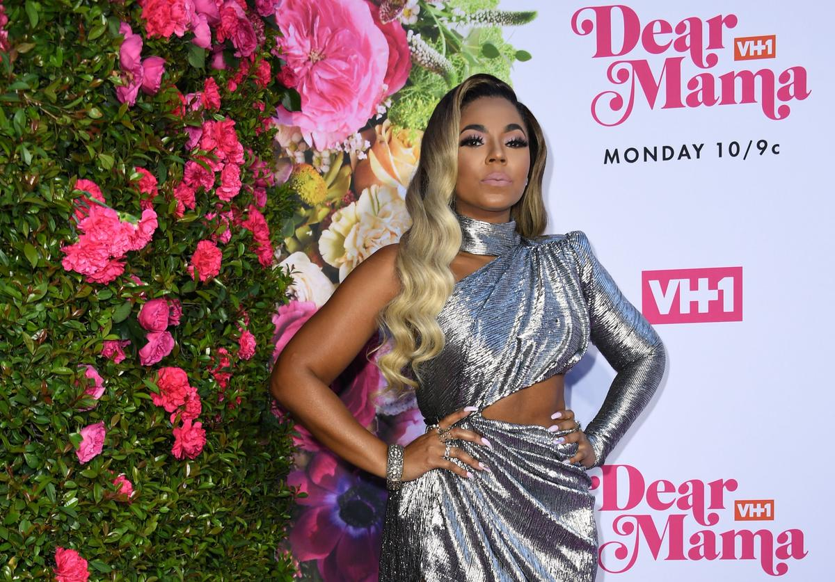 "Ashanti arrives for VH1's Annual Mother's Day Celebration ""Dear Mama: A Love Letter to Mom"" at The Theatre at Ace hotel in Los Angeles on May 2, 2019."