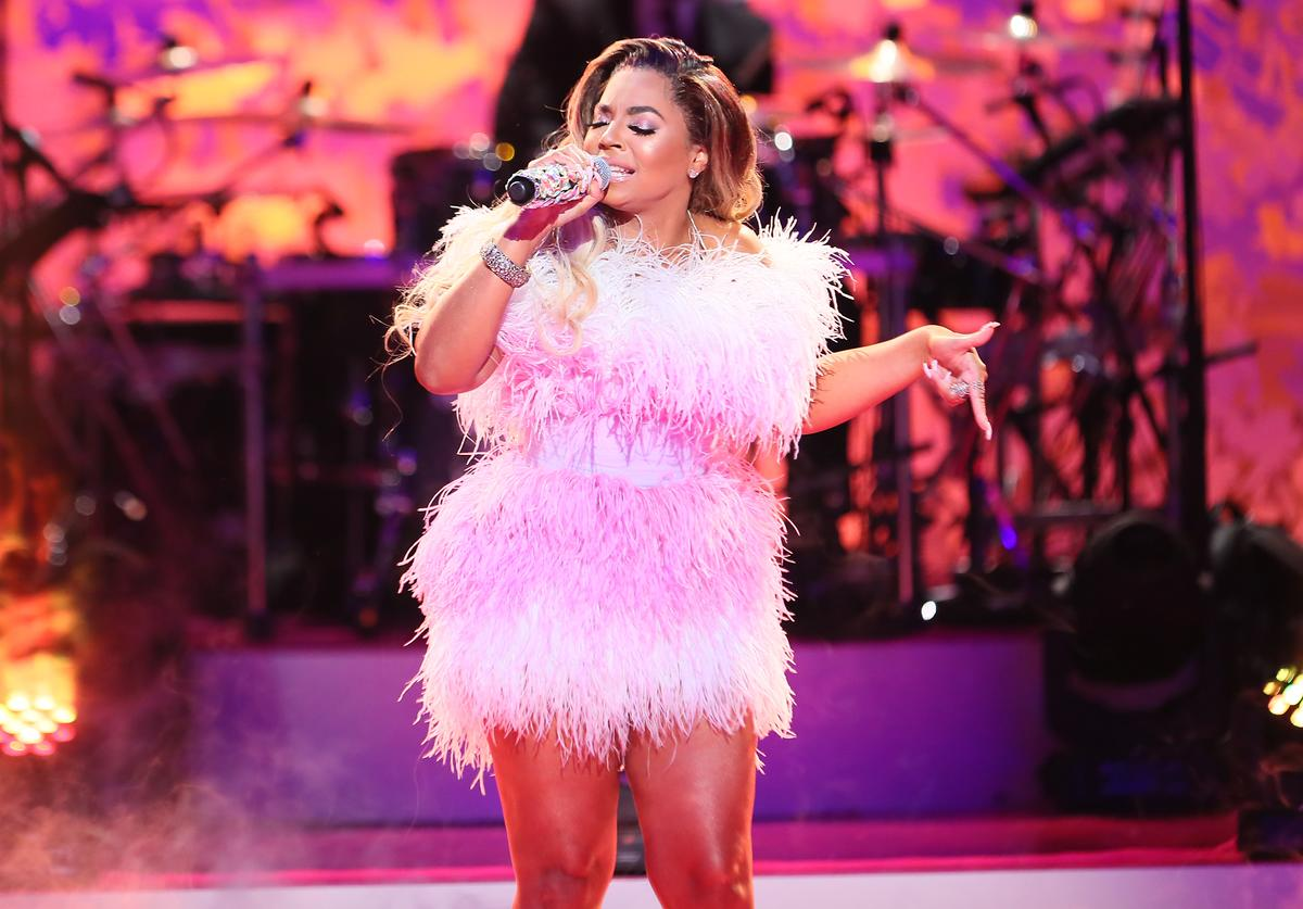 """Ashanti performs during VH1's Annual """"Dear Mama: A Love Letter To Mom"""" at The Theatre at Ace Hotel on May 02, 2019 in Los Angeles, California."""
