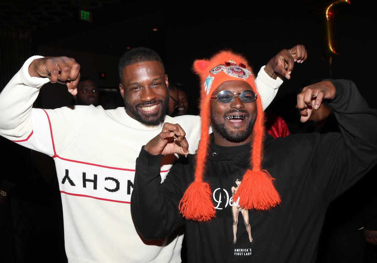 Jay Rock and Schoolboy Q attend Jay Rock's Birthday at The Novo VIP Lounge on March 29, 2019 in Los Angeles, California.