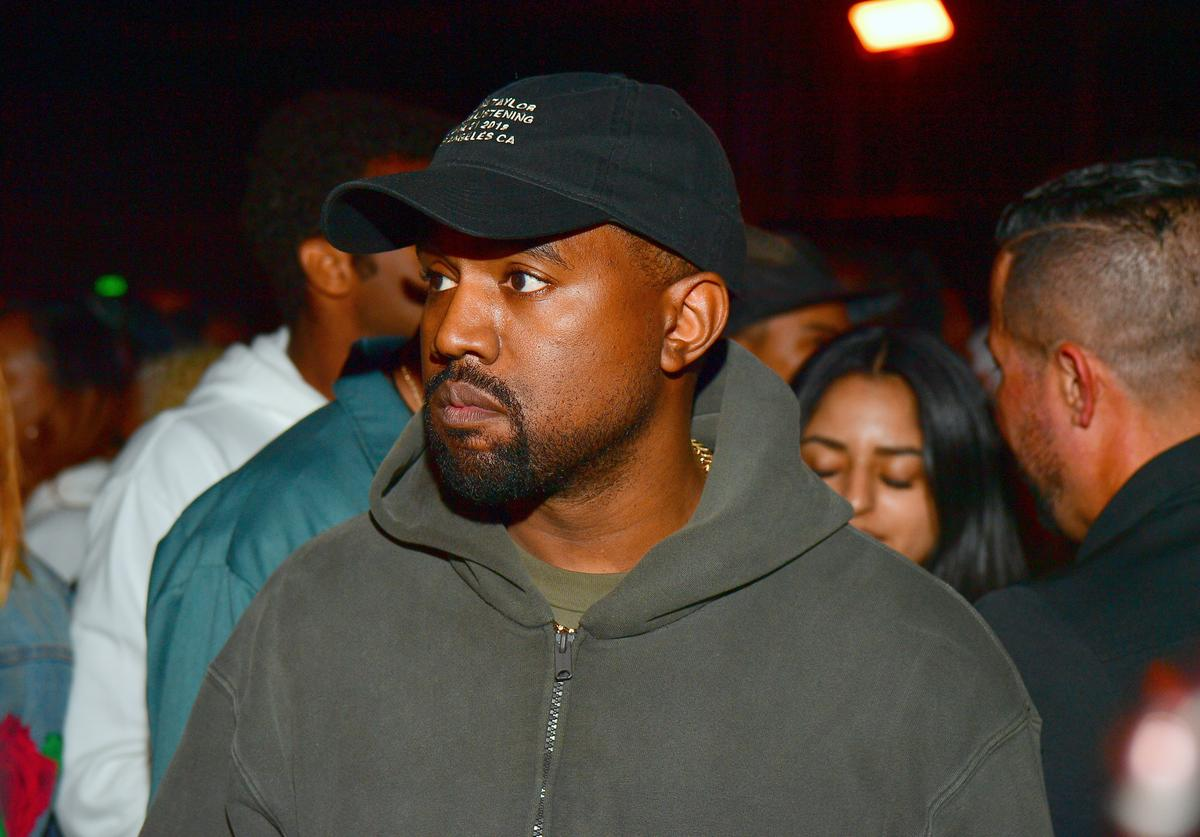 Kanye West attends Teyana Taylor Album Release Party at Universal Studios Hollywood on June 21, 2018 in Universal City, California