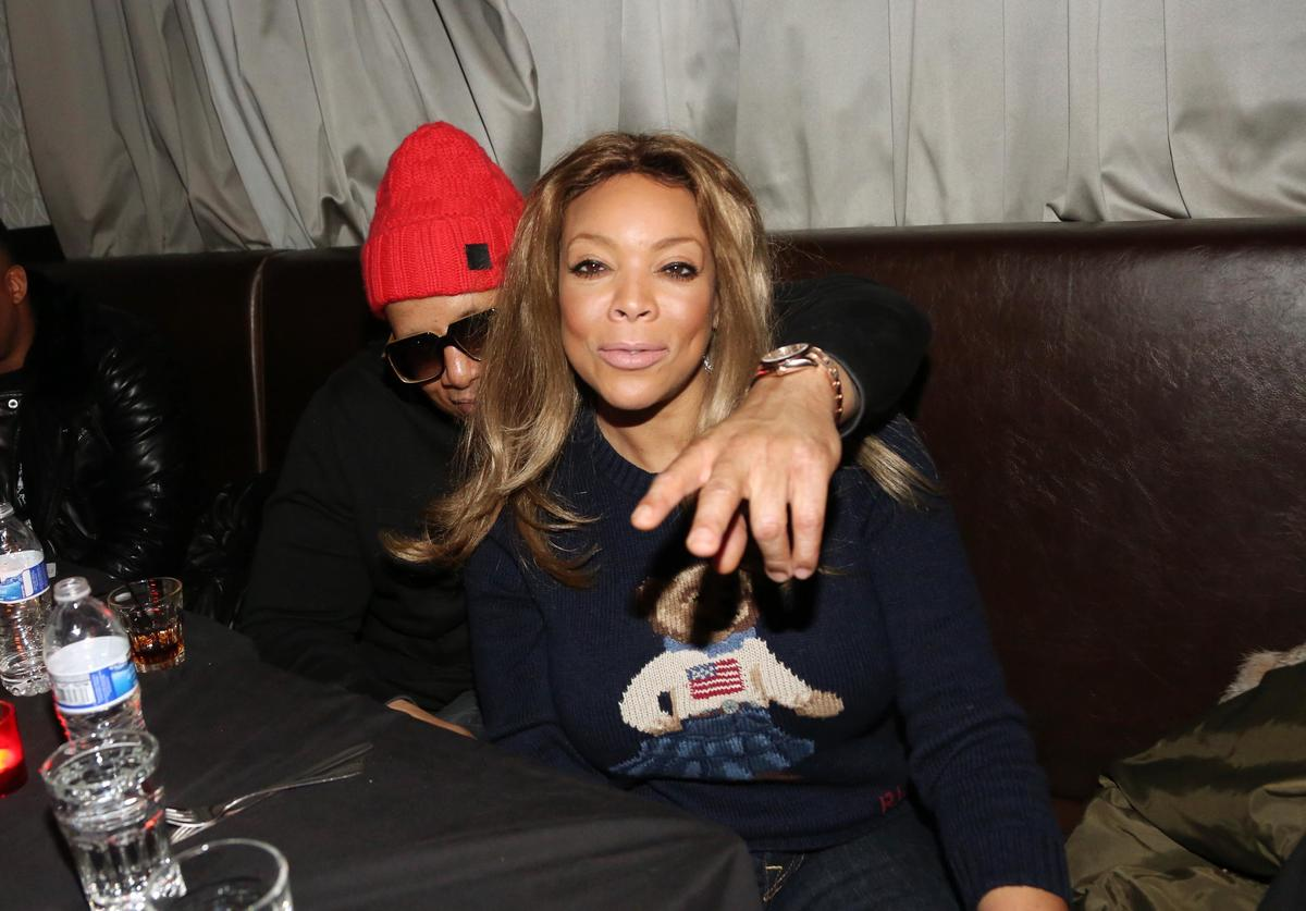 Wendy Williams (r) and husband Kevin Hunter attend the Smif N Wessun - Dah Shinin' 20 Year Anniversary concert at S.O.B.'s on January 14, 2015 in New York City