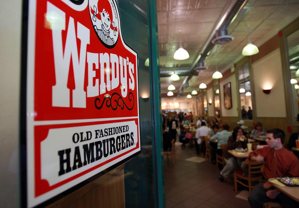 People eat in a Wendy's April 24, 2008 in New York City