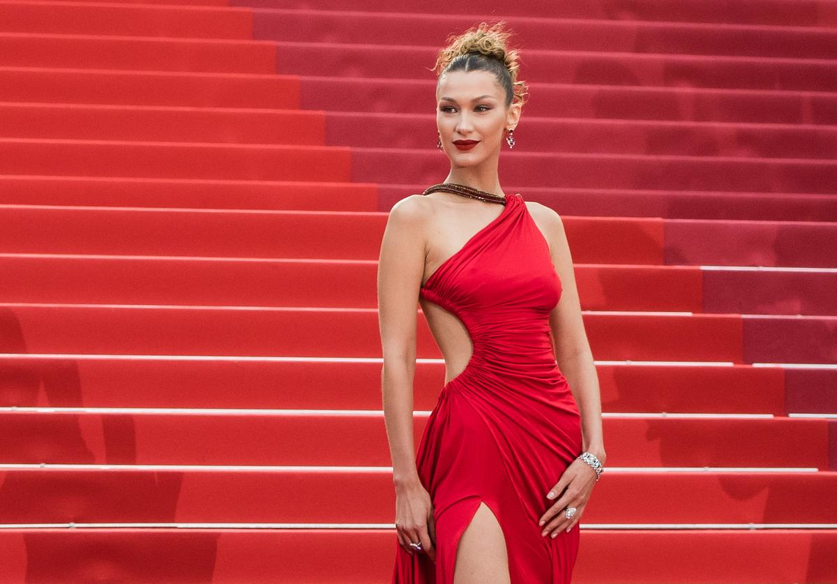 "Bella Hadid attends the screening of ""Pain And Glory (Dolor Y Gloria/ Douleur Et Glorie)"" during the 72nd annual Cannes Film Festival on May 17, 2019 in Cannes, France"