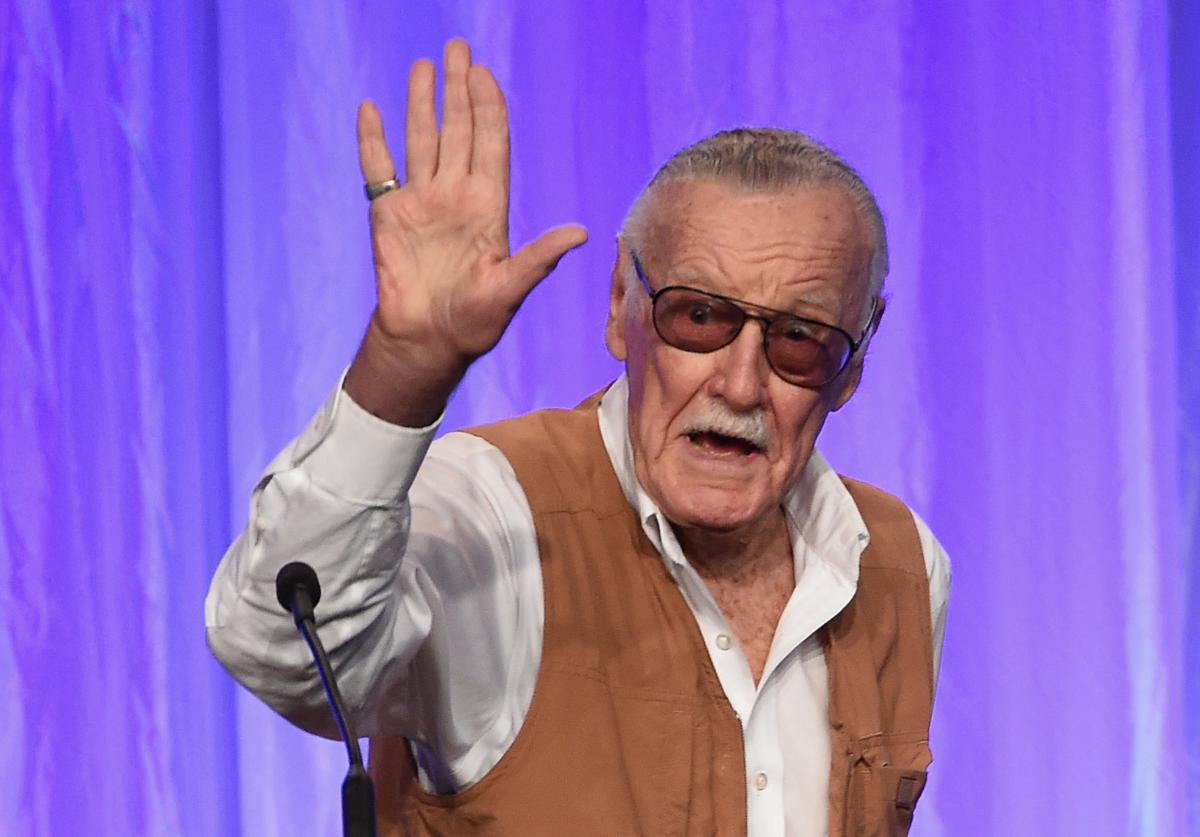 Stan Lee speaks onstage at the Hollywood Foreign Press Association's Grants Banque