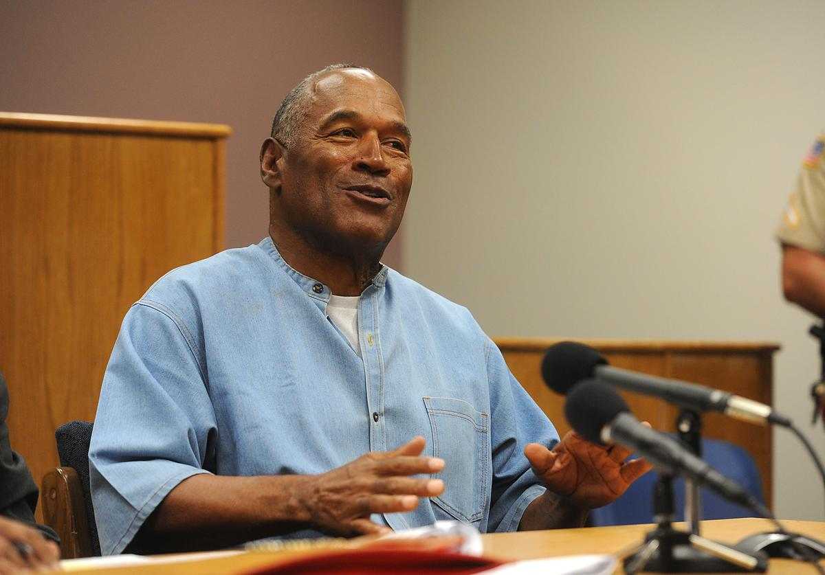 O.J. Simpson attends a parole hearing at Lovelock Correctional Center
