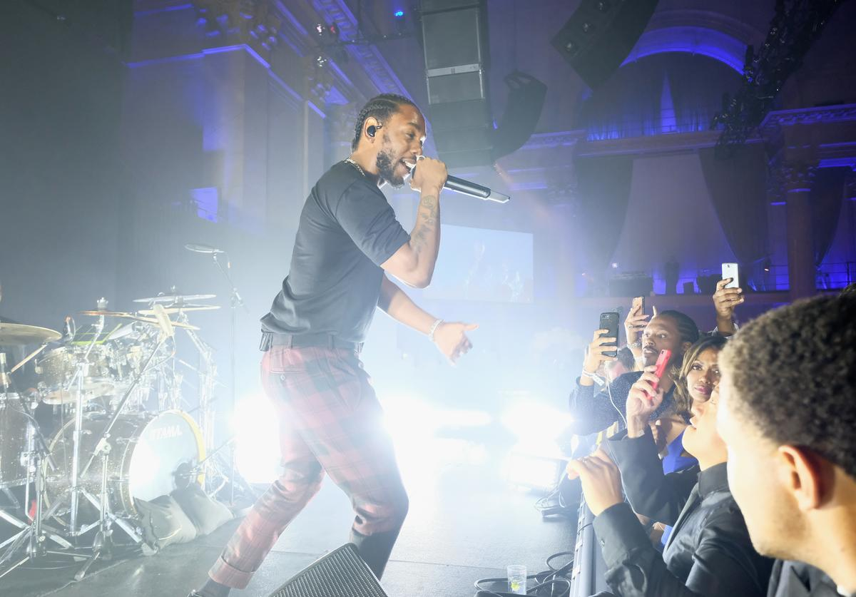 Kendrick Lamar performs onstage at Rihanna's 3rd Annual Diamond Ball Benefitting The Clara Lionel Foundation at Cipriani Wall Street on September 14, 2017 in New York City