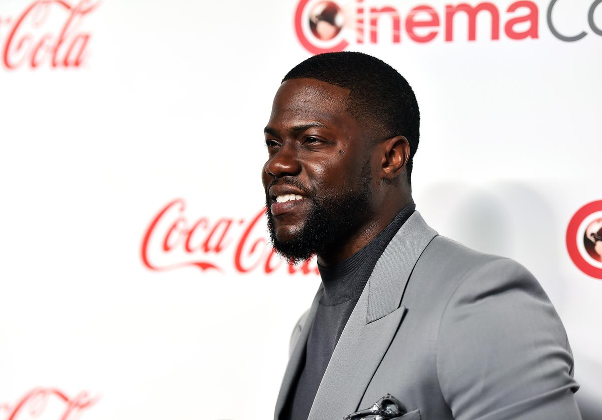 Kevin Hart attends The CinemaCon Big Screen Achievement Awards Brought to you by The Coca-Cola Company at OMNIA Nightclub at Caesars Palace during CinemaCon, the official convention of the National Association of Theatre Owners, on April 4, 2019 in Las Vegas, Nevada