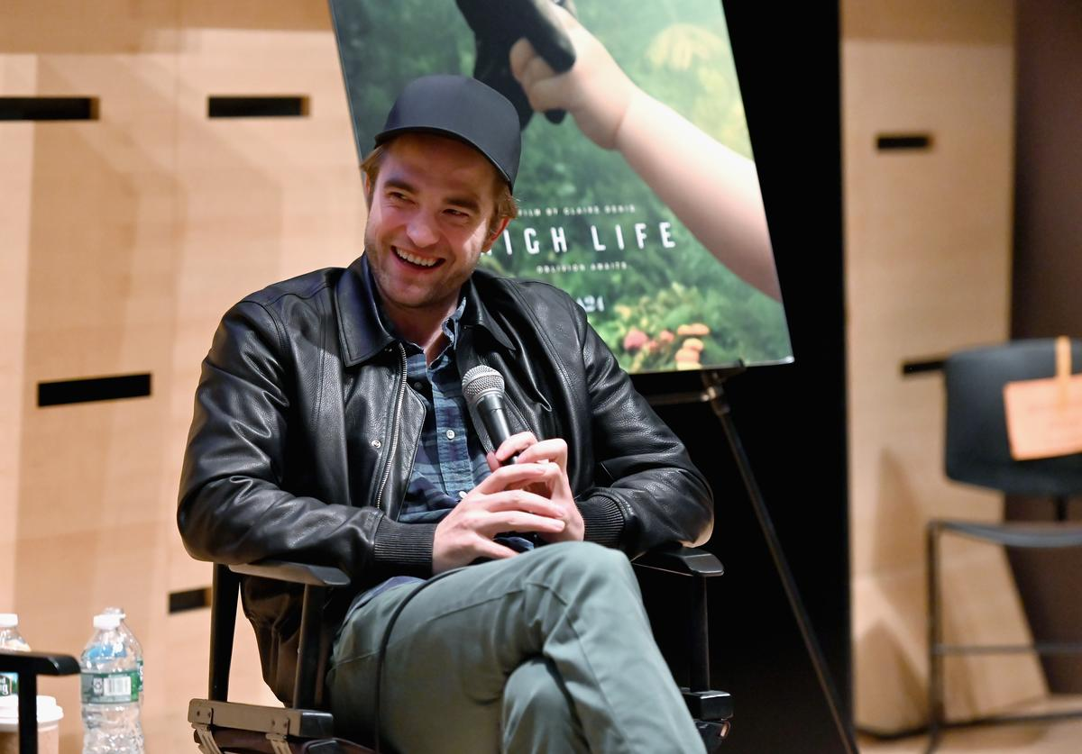 "Robert Pattinson speaks at The Film Society of Lincoln Center's Film Comment Free Talk for ""High Life"" at Elinor Bunin Munroe Film Center on April 04, 2019 in New York City."