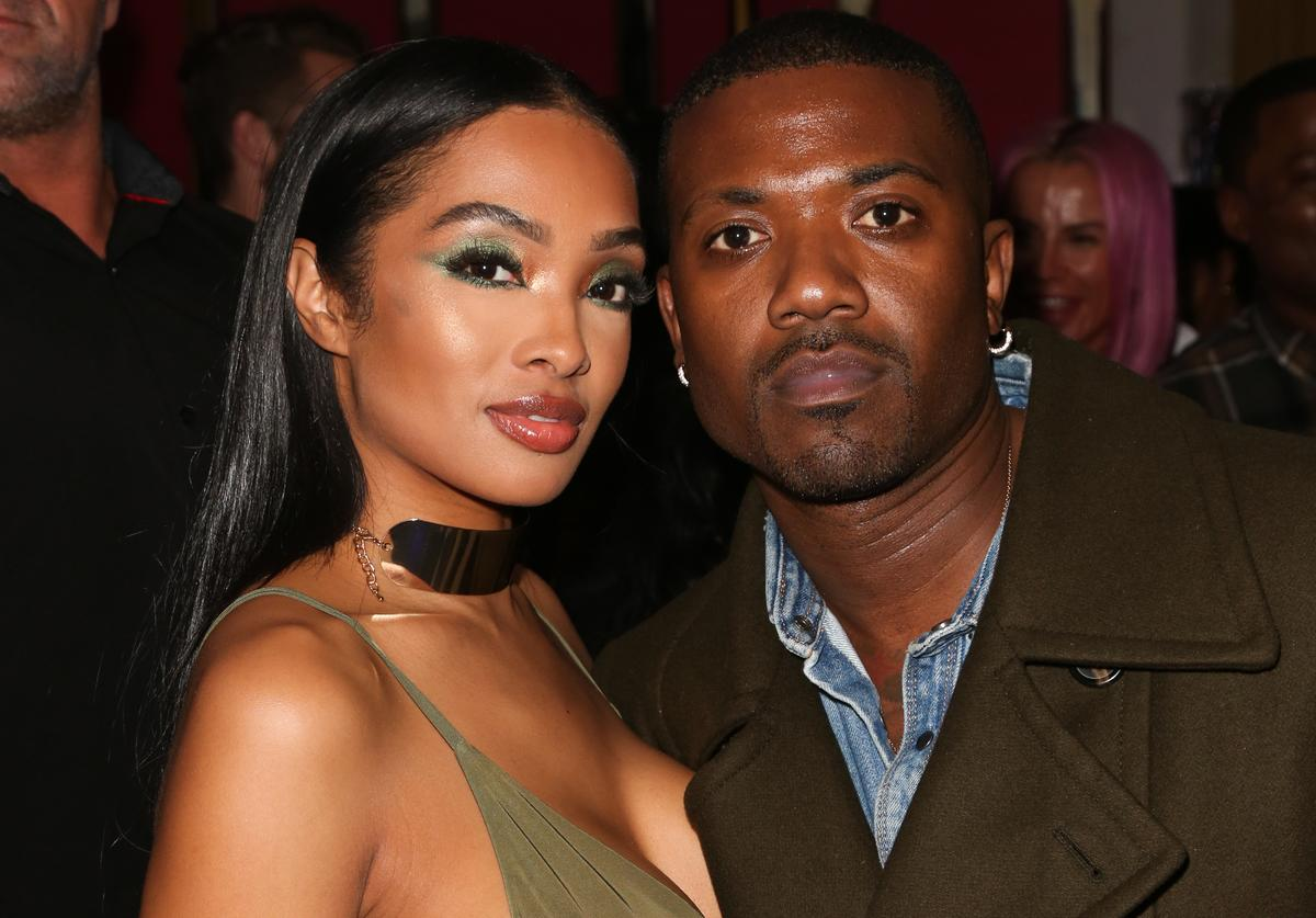 Ray J (R) and his Wife Princess Love (L) attend Tyga's Birthday celebration at Delilah on November 19, 2018 in West Hollywood, California