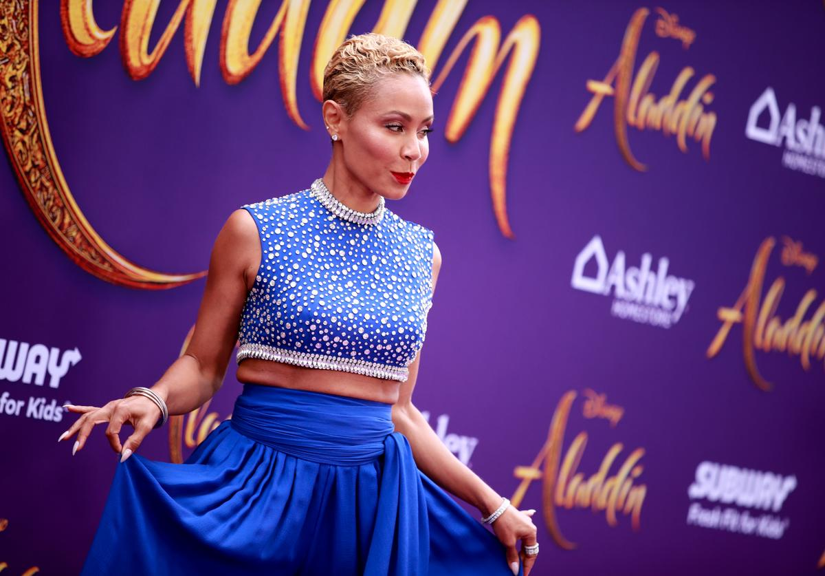 "Jada Pinkett Smith attends the premiere of Disney's ""Aladdin"""