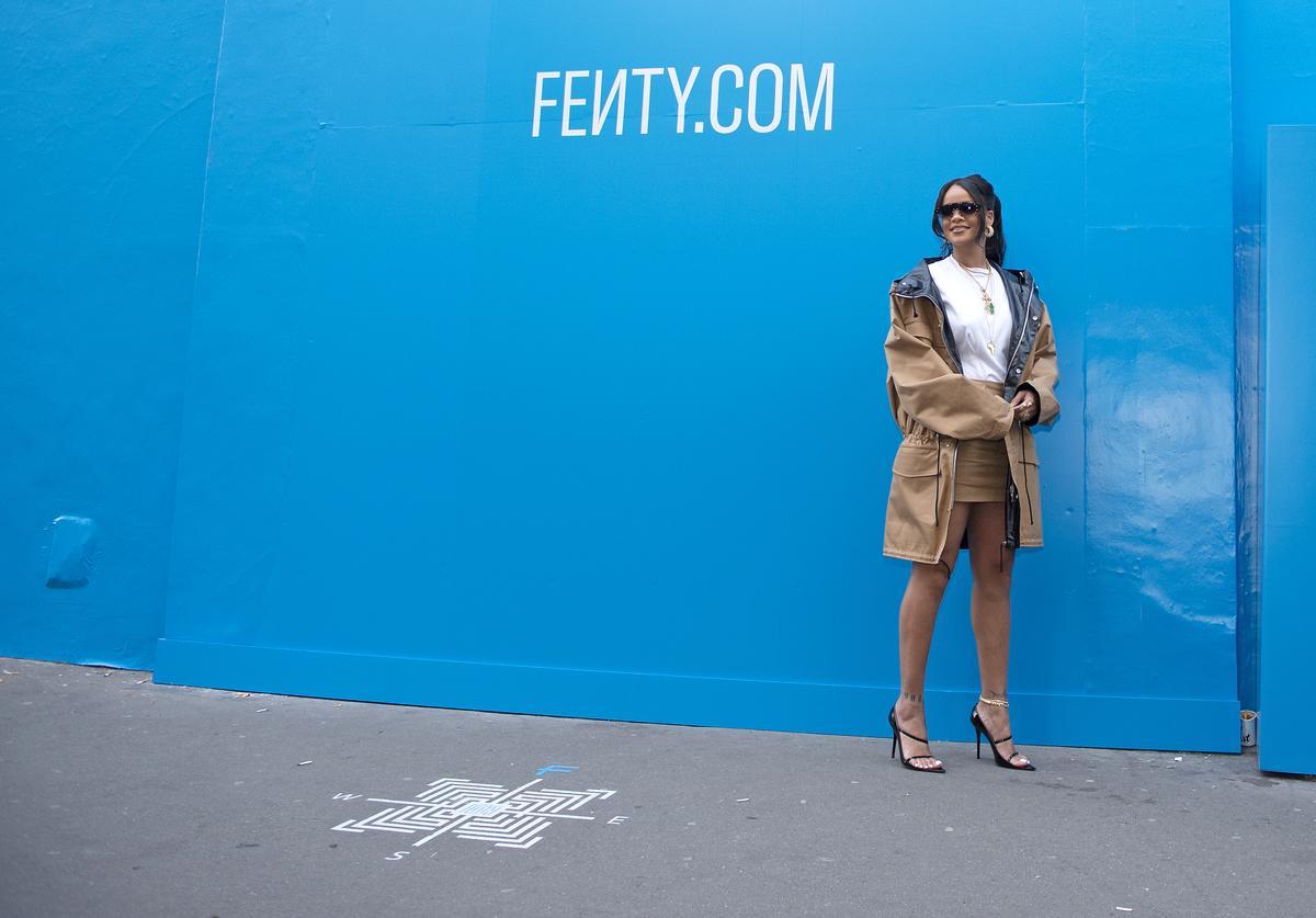 Rihanna attends the Fenty Exclusive Preview