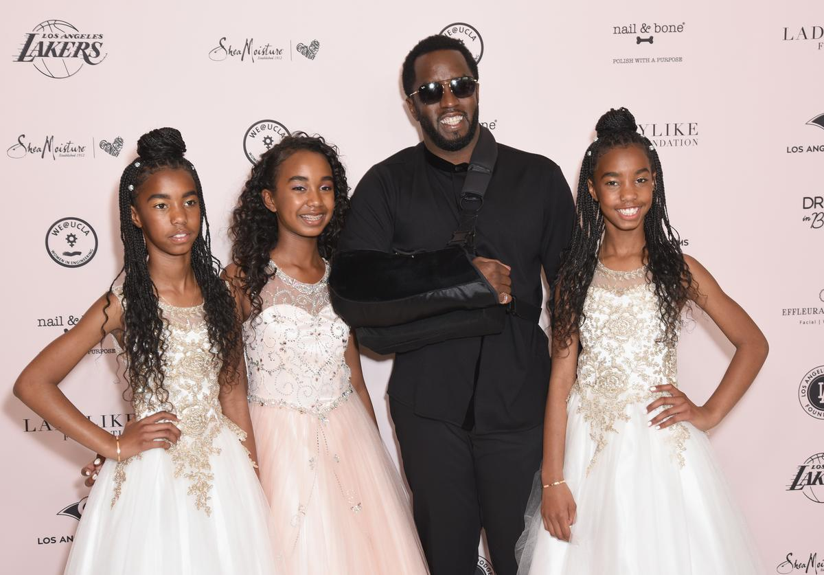 D'Lila Star Combs, Chance Combs, Sean Combs and Jessie James Combs attend The LadyLike Foundation Women Of Excellence Luncheon at The Beverly Hilton Hotel on May 11, 2019 in Beverly Hills, California