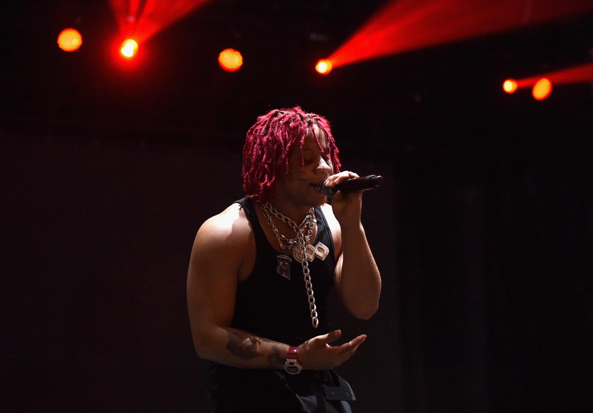 Trippie Redd performs onstage during Adult Swim Festival 2018 at ROW DTLA on October 6, 2018