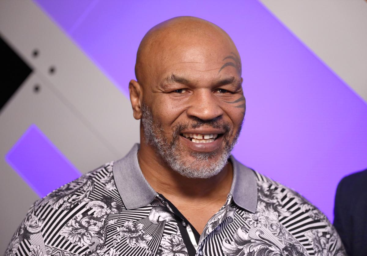 Mike Tyson speaks with Mario Lopez at Capital One Podcast Studio during the 2019 iHeartRadio Podcast Awards Presented by Capital One at the iHeartRadio Theater LA on January 18, 2019 in Burbank, California