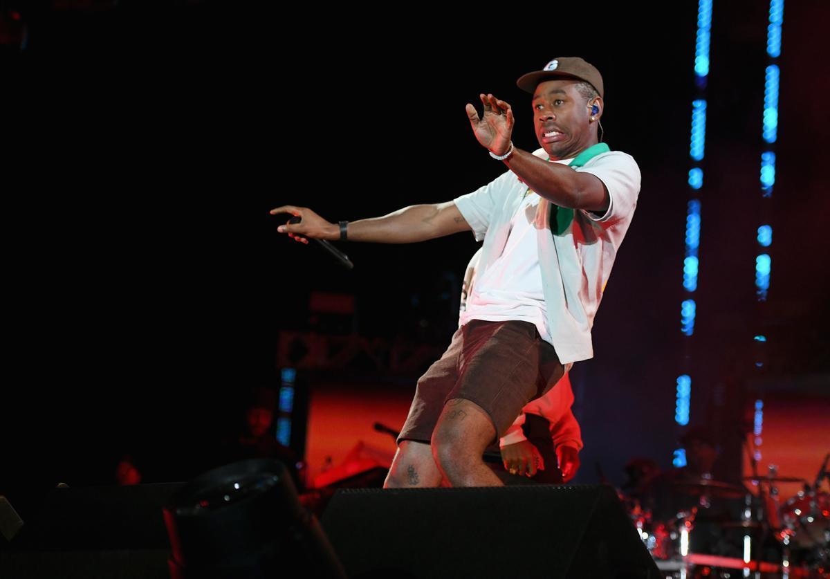 Tyler, the Creator performs onstage at SOMETHING IN THE WATER - Day 2 on April 27, 2019 in Virginia Beach City.