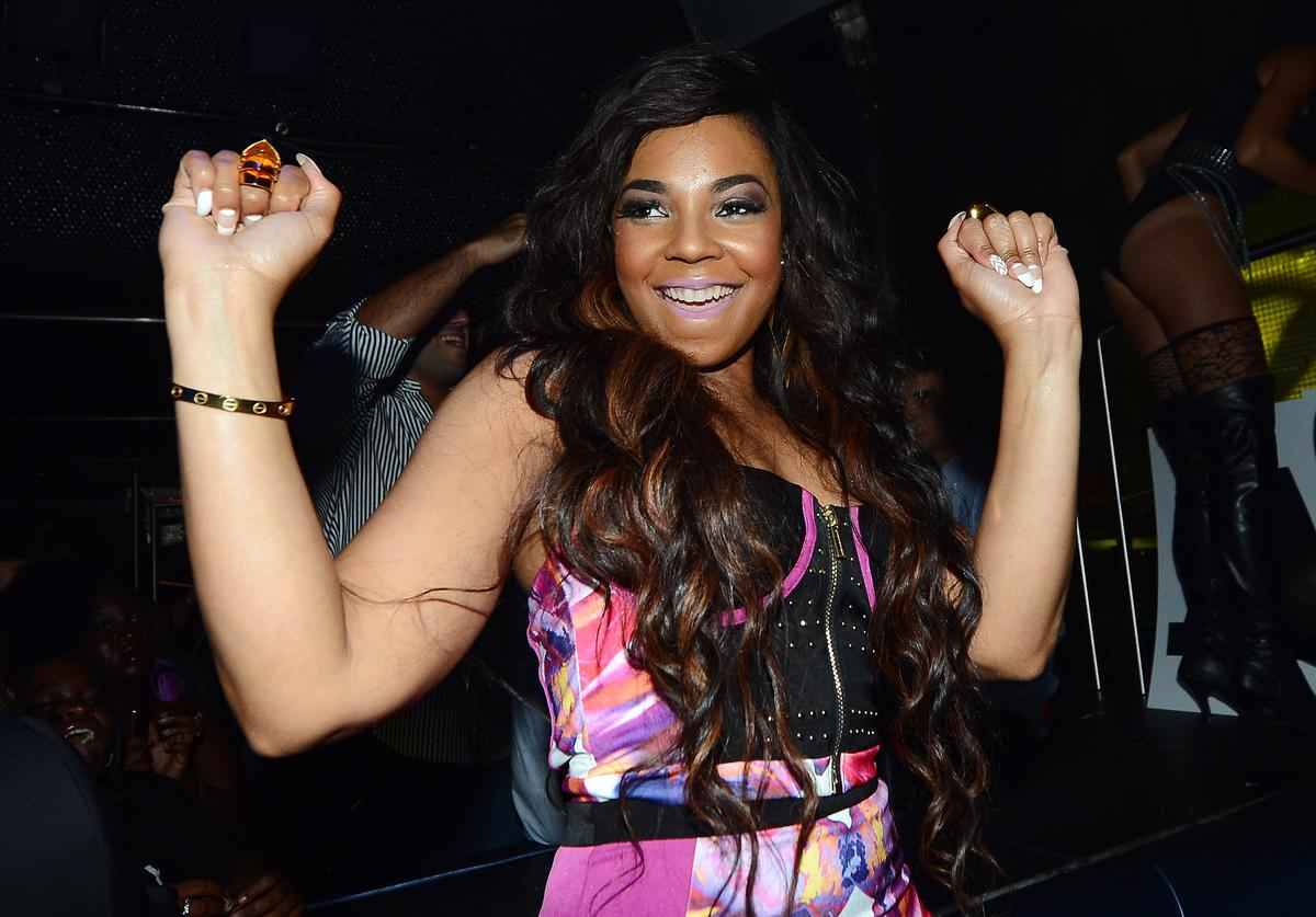 "Ashanti appears at Moon nightclub at the Palms Casino Resort to celebrate Labor Day weekend and her upcoming album ""Braveheart"" on August 31, 2013 in Las Vegas, Nevada"