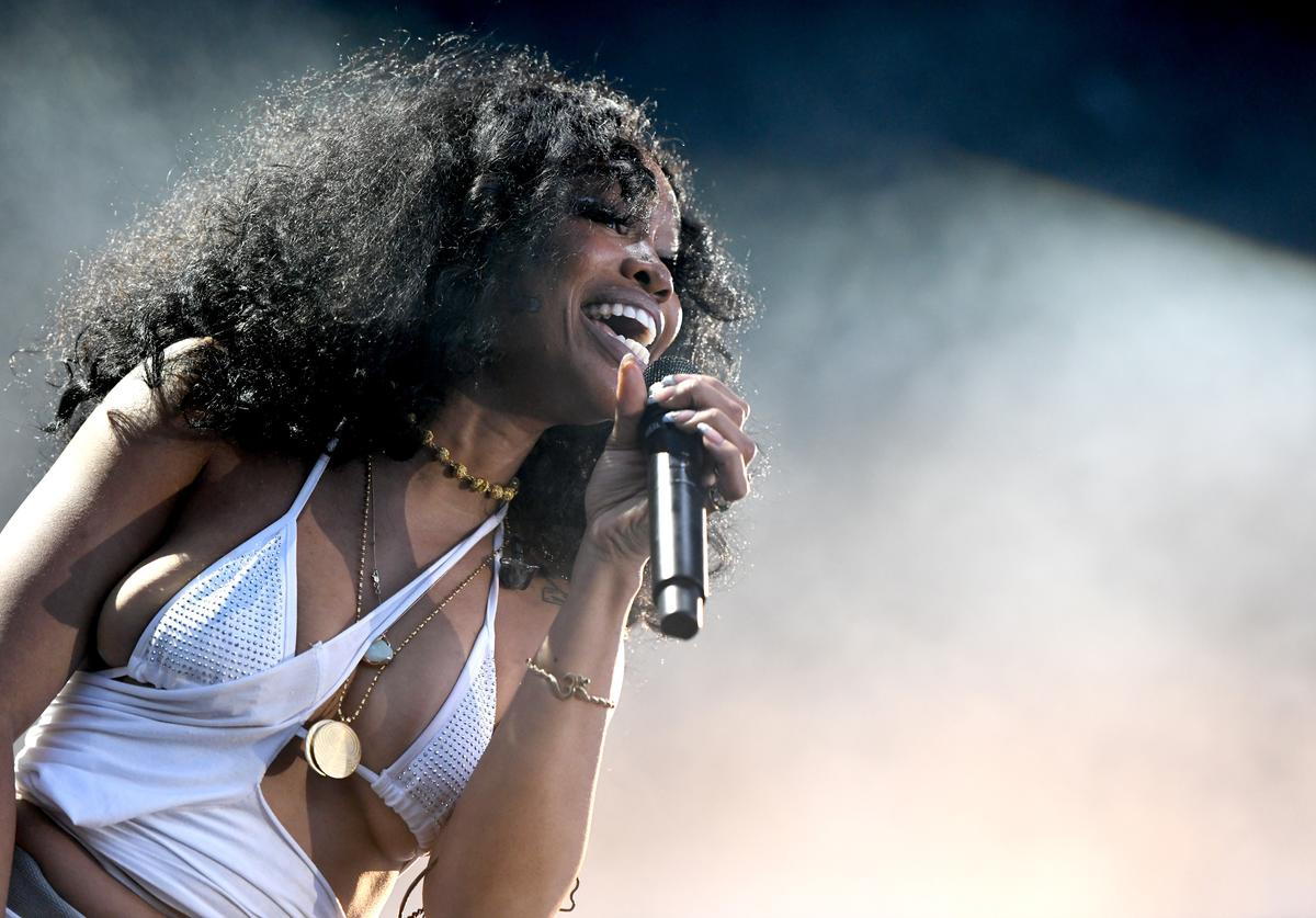 SZA performs onstage at SOMETHING IN THE WATER - Day 2 on April 27, 2019 in Virginia Beach City.