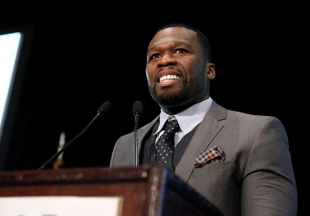 """Curtis """"50 Cent"""" Jackson speaks onstage during Tuesday's Children Roots of Resilience Gala 2015 on September 10, 2015 in New York City"""