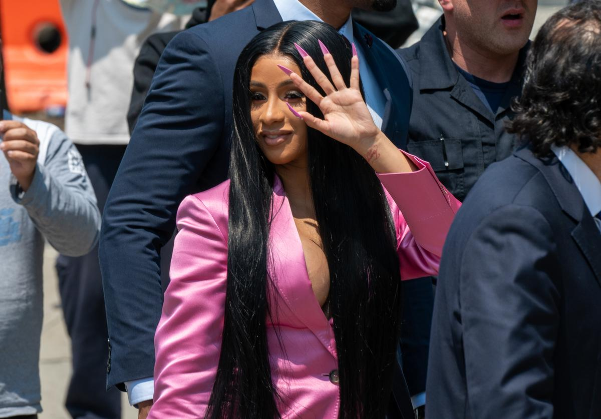 Cardi B arrives at court for the first day of her trial addressing a misdemeanor assault charge at Queens Criminal Court on May 31, 2019 in New York City