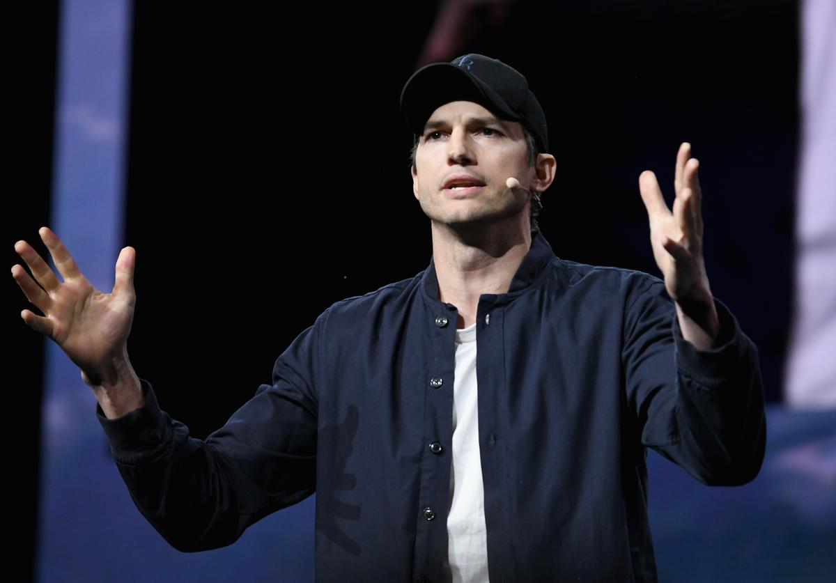 Ashton Kutcher speaks onstage during WeWork Presents Second Annual Creator Global Finals at Microsoft Theater on January 9, 2019 in Los Angeles, California.