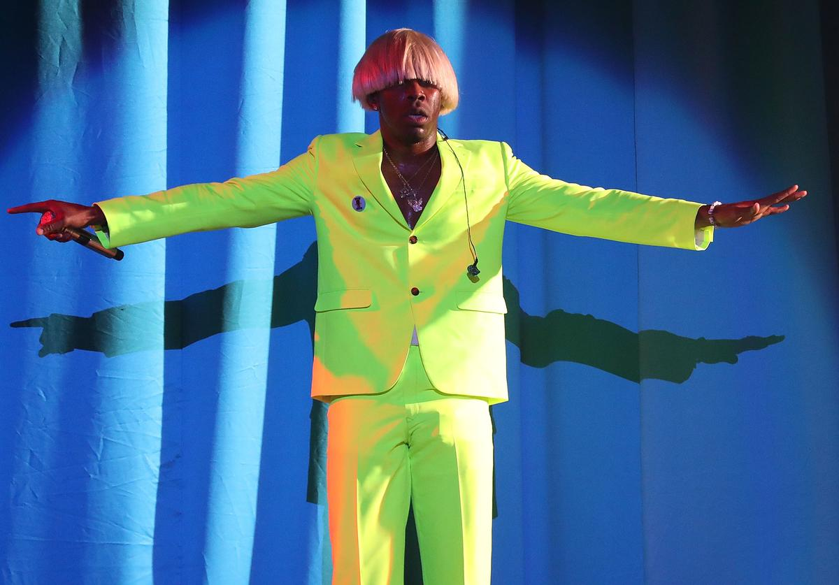 Tyler, the Creator performs onstage for Day 1 of 2019 Governors Ball Music Festival at Randall's Island on May 31, 2019 in New York City