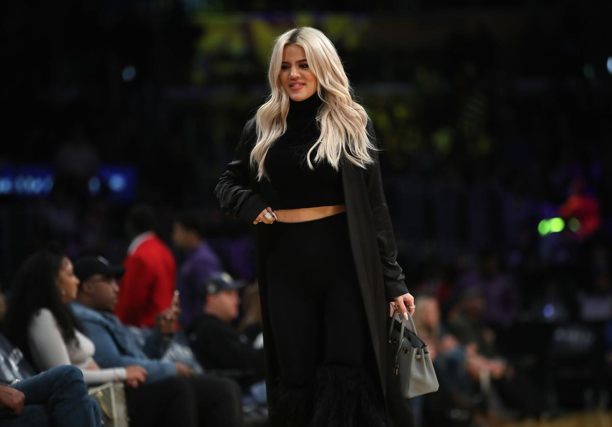 Khloe Kardashian at NBA game