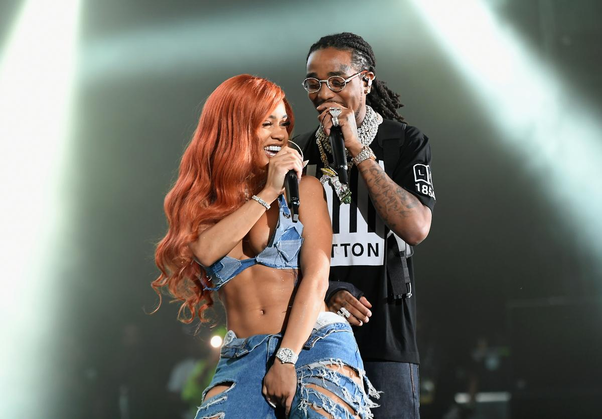 Saweetie, and Quavo of Migos perform at Summer Jam 2019