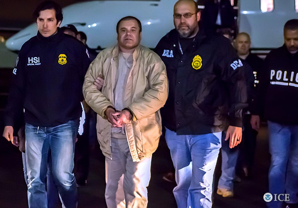 n this handout provided by U.S. Immigration and Customs Enforcement, Federal authorities announced Friday that Joaquin Archivaldo Guzman Loera