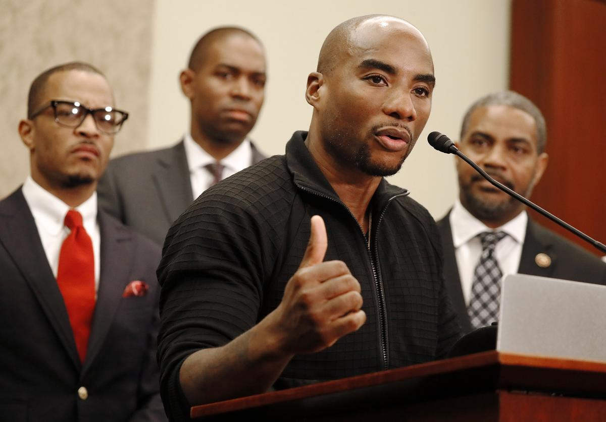 Radio Host Charlamagne tha God speaks at a Congressional Black Caucus