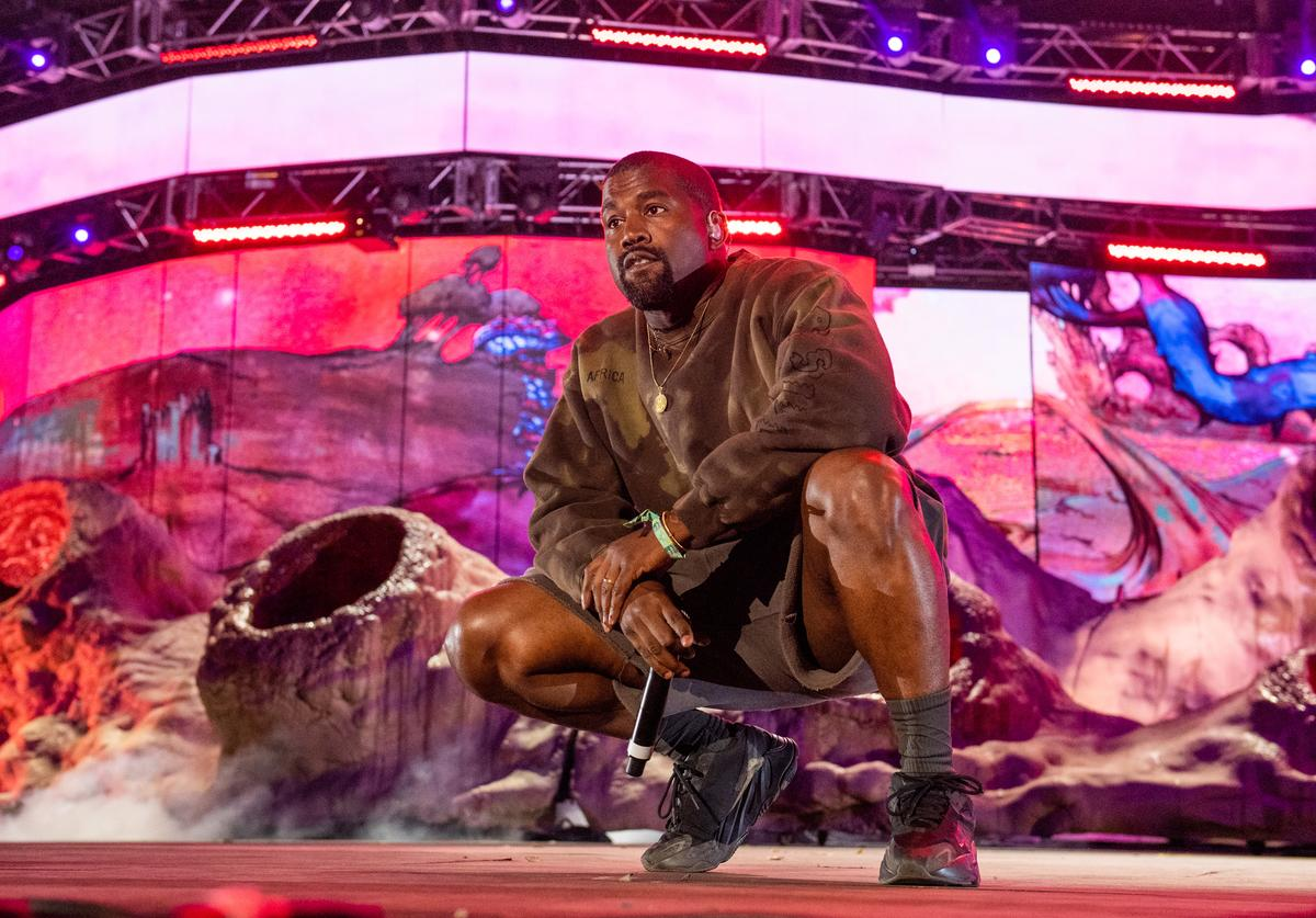 Kanye West performs during 2019 Coachella Valley Music And Arts Festival on April 20, 2019 in Indio, California