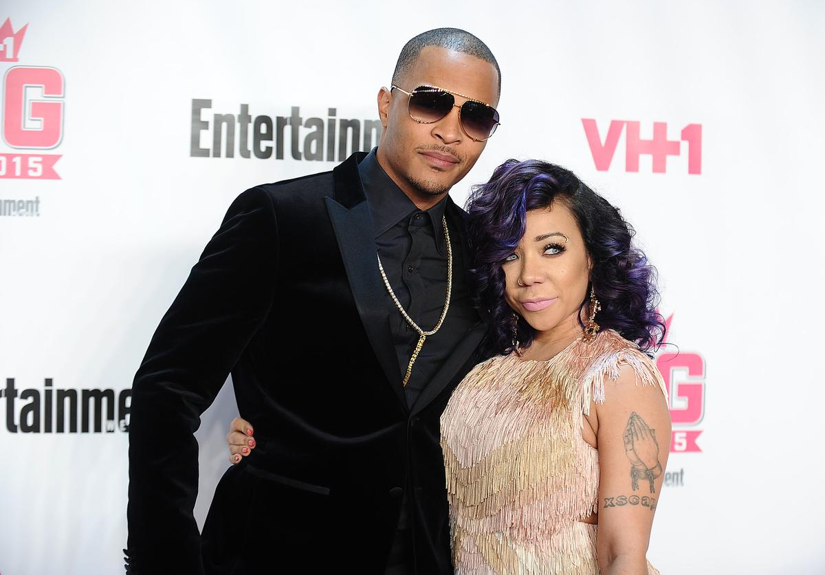 T.I. and Tameka 'Tiny' Cottle-Harris attend the VH1 Big In 2015 with Entertainment Weekly Awards at Pacific Design Center on November 15, 2015 in West Hollywood, California.