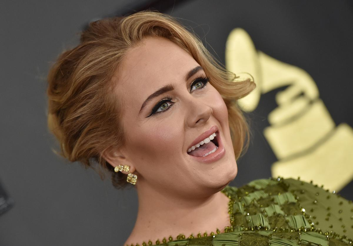 Recording artist Adele attends the 59th GRAMMY Awards at STAPLES Center