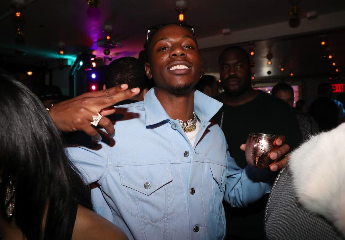 Joey Bada$$ attends the Dwyane Wade Retirement Dinner on April 10, 2019 in New York City.