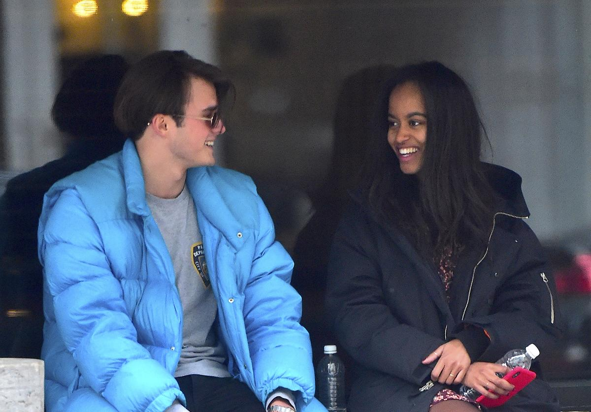 Rory Farquharson,Malia Obama are seen on January 20, 2018 in New York City