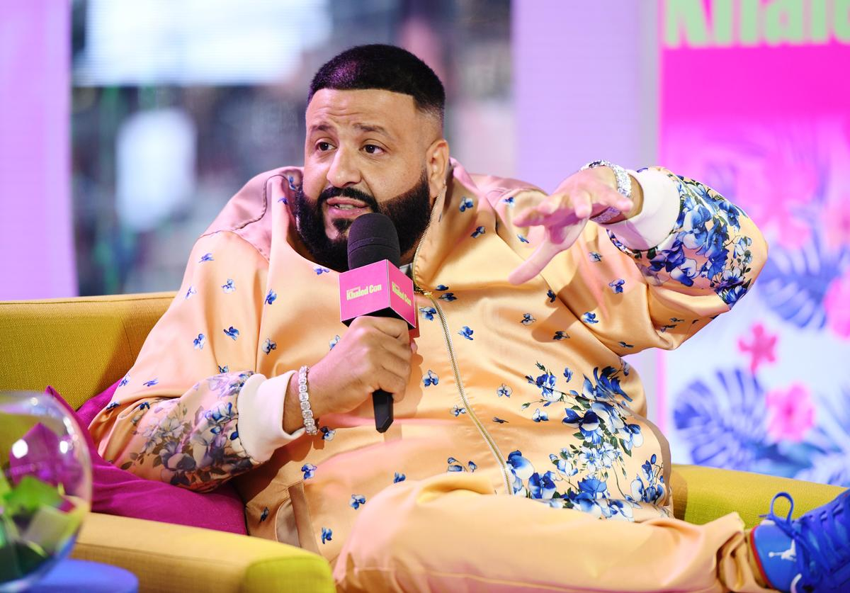 "DJ Khaled is interviewed as ""MTV Presents: Khaled Con,"" a DJ Khaled-hosted fan event in MTV's Times Square Studio, celebrating the release of ""Father Of Asahd"" at MTV Studios on May 17, 2019 in New York City."