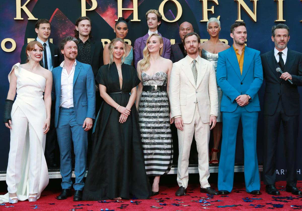 The cast of the Dark Phoenix