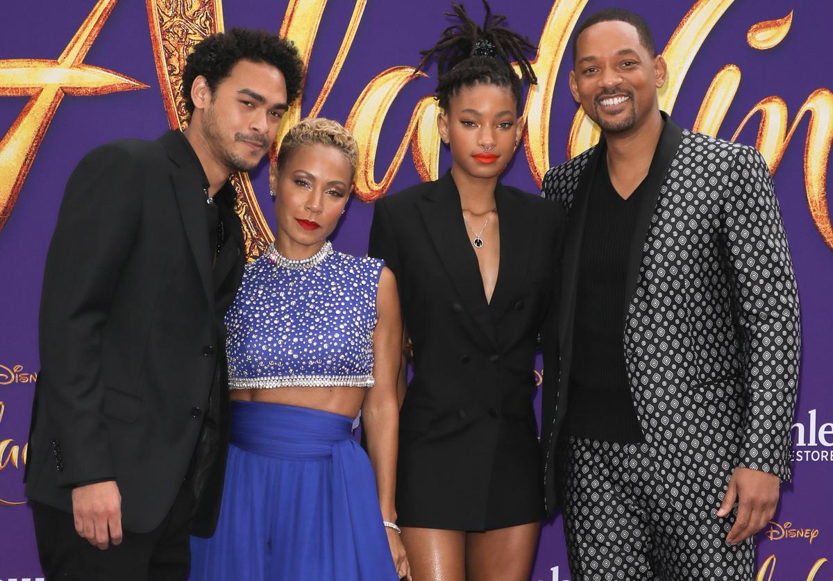 Trey Smith, Jada Pinkett Smith, Willow Smith, Will Smith