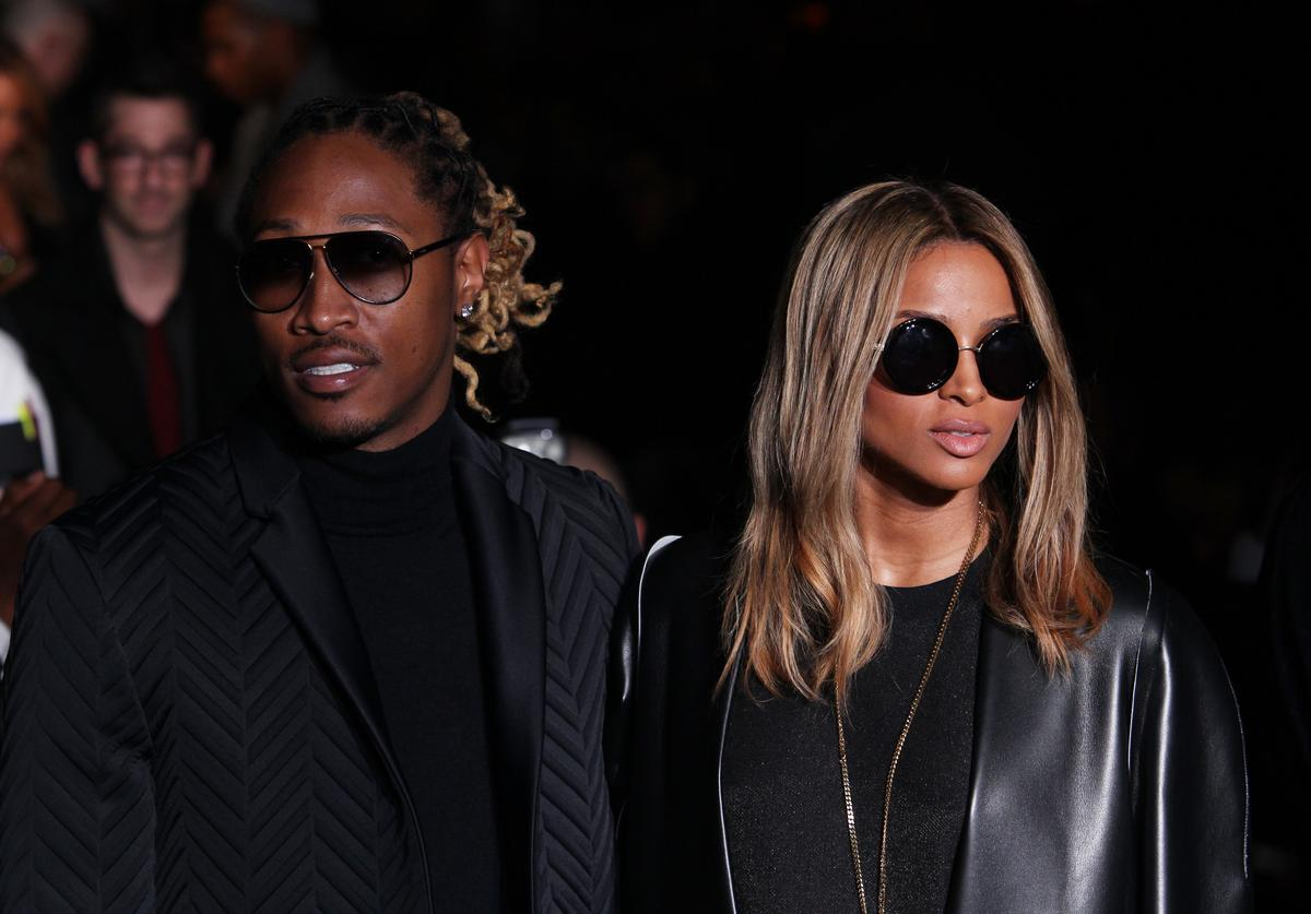 Future; Ciara attend the Calvin Klein Collection show as a part of Milan Fashion Week Menswear Autumn/Winter 2014 on January 12, 2014 in Milan, Italy