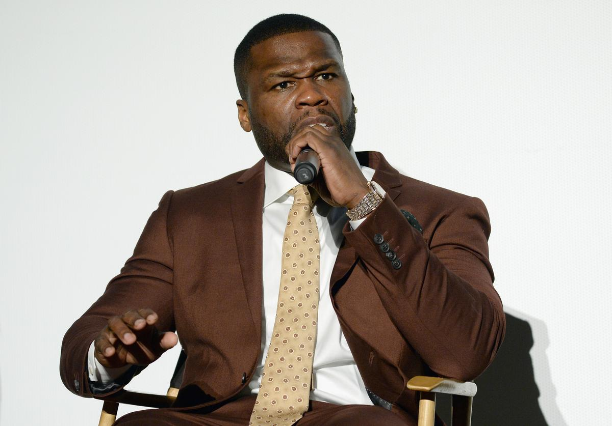 "50 Cent speaks at STARZ ""POWER"" FYC Event at The Jeremy Hotel on May 3, 2018 in West Hollywood, California"