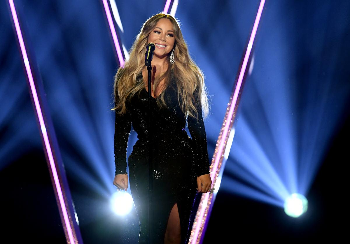 Mariah Carey performs onstage during the 2019 Billboard Music Awards at MGM Grand Garden Arena on May 01, 2019 in Las Vegas, Nevada