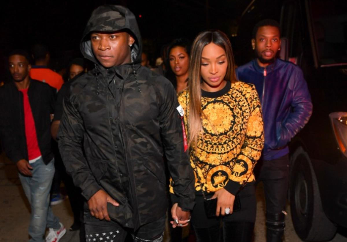 Genasis and Malika Haqq attend The Official Big Game Take over Hosted by Diddy+Jeezy+Future at Compound on February 2, 2019 in Atlanta, Georgia.