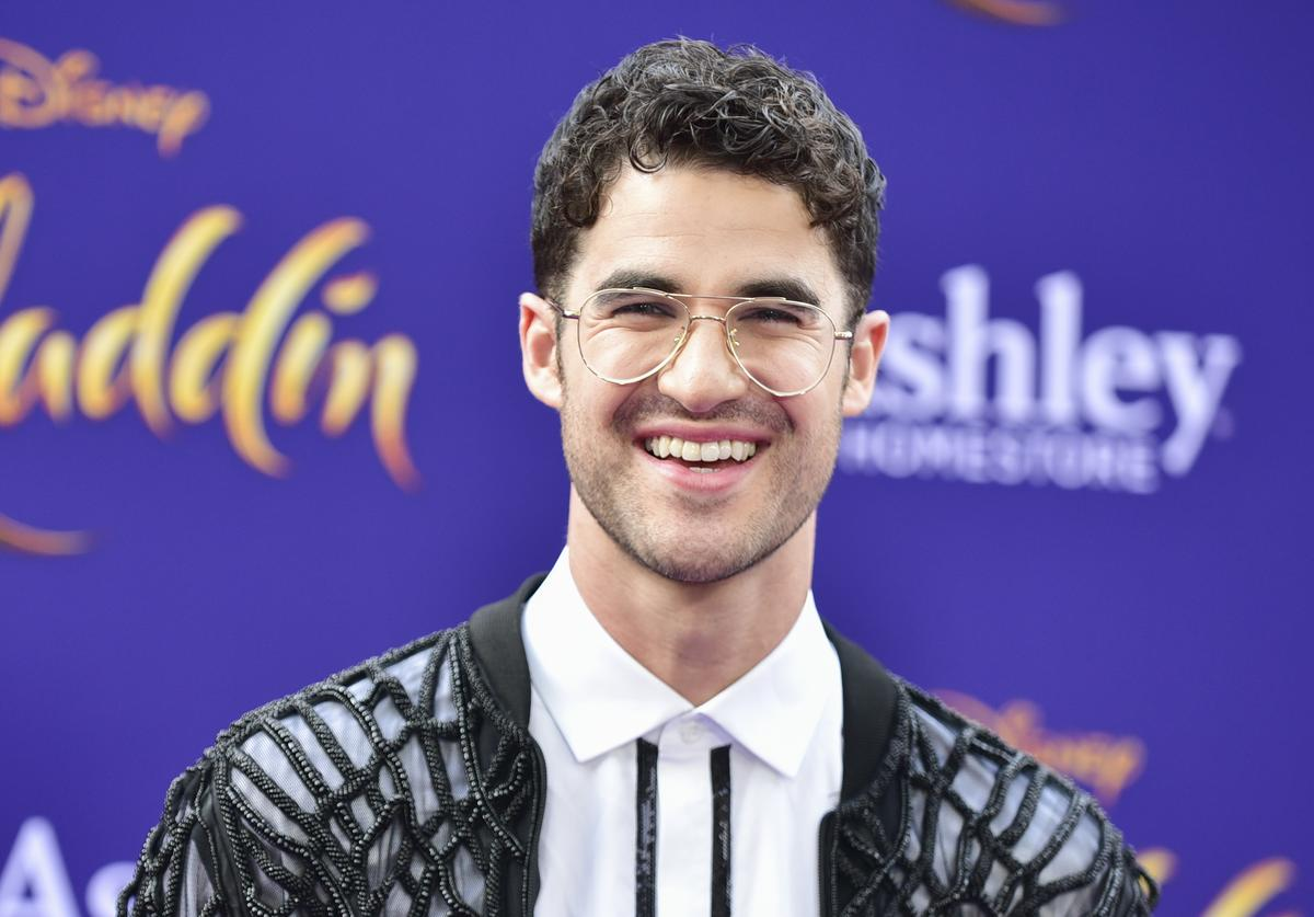 """Darren Criss attends the premiere of Disney's """"Aladdin"""" on May 21, 2019 in Los Angeles, California."""
