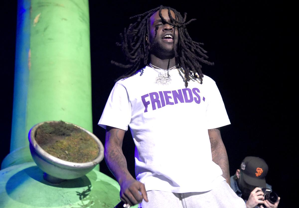 """Chief Keef performs during """"Berner Presents Hippie Hill"""" at Bill Graham Civic Auditorium on April 20, 2018 in San Francisco, California."""