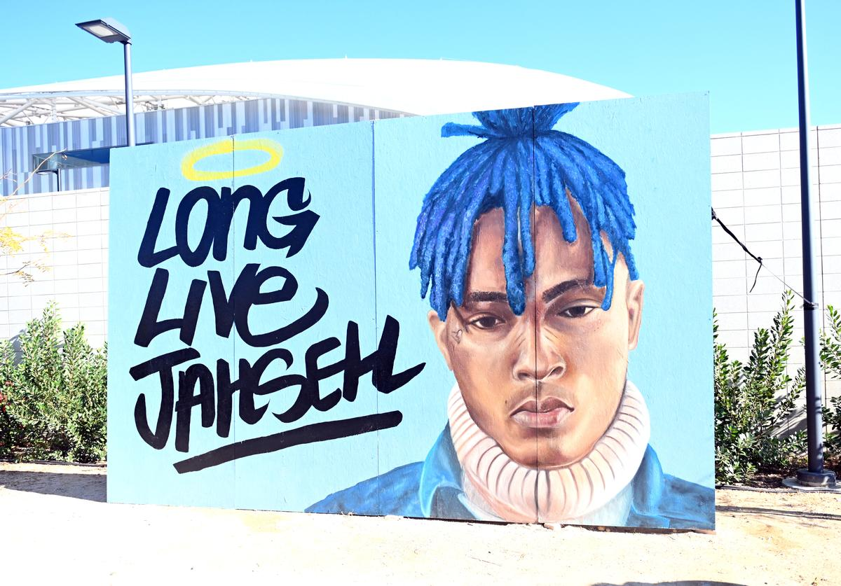 A view of a tribute to slain rapper XXXtentacion during day 2 of Rolling Loud Festival at Banc